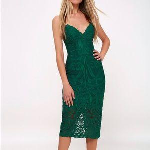 Bardot Dresses - Bardot Forest Green Dress